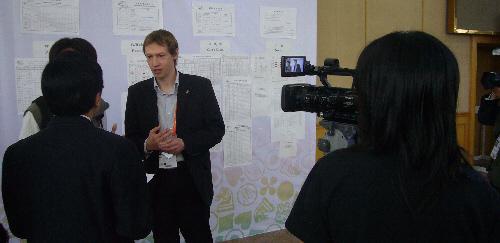 Jörn wird interviewt