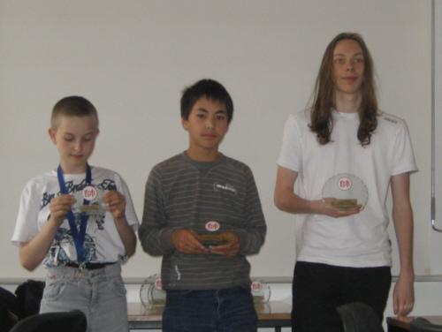 Die Jugendsieger: Böhl, L.Gitter, Bradler