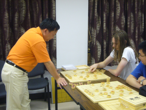 Xu beim Simultan gegen Stephan